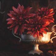 Czerwone kwiatki deserowe