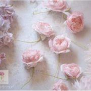 Różowe róże z lukru