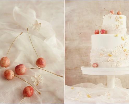 Wiśniowy tort na wesele