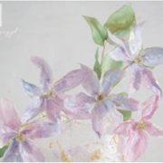 Fioletowe kwiaty z lukru