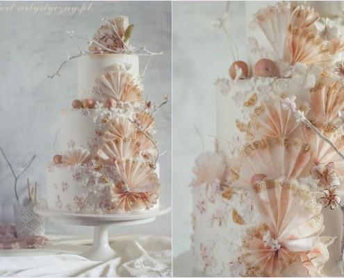 3 poziomowy tort weselny