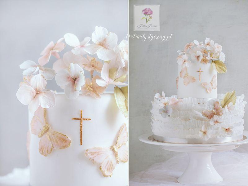 Chrzest i komunia tort