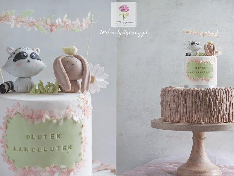 Tort dla najmłodszych ze zwierzątkami