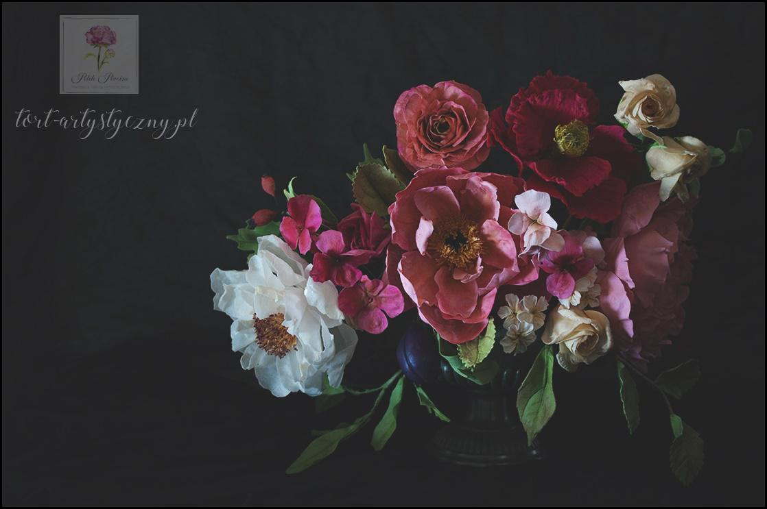 odelowanie kwiatów cukrowych Szkolenie z florystyki cukierniczej