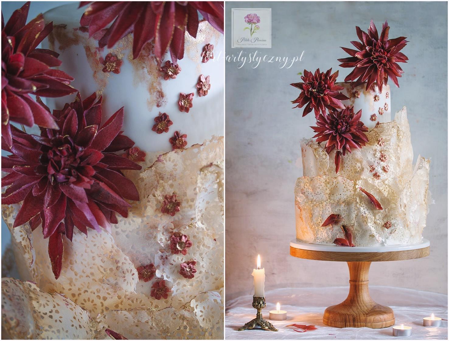 Modelowanie kwiatów z papieru jadalnego: dalie, róże angielskie, hortensje
