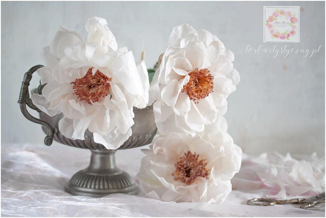 Modelowanie kwiatów z papieru jadalnego: peonie, jaskry, magnolie