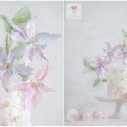 Tort z żywymi kwiatami na urodziny