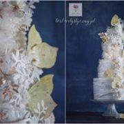 Tort na ślub z motylkami