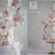 Duży tort na urodziny dla Pani