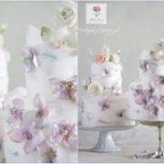 Fioletowy tort dla dziecka