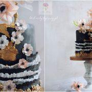 Sesja Konary czarny tort