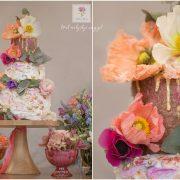 Kolorowy torcik z kwiatami