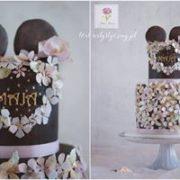 Dwupiętrowy tort z myszką Miki